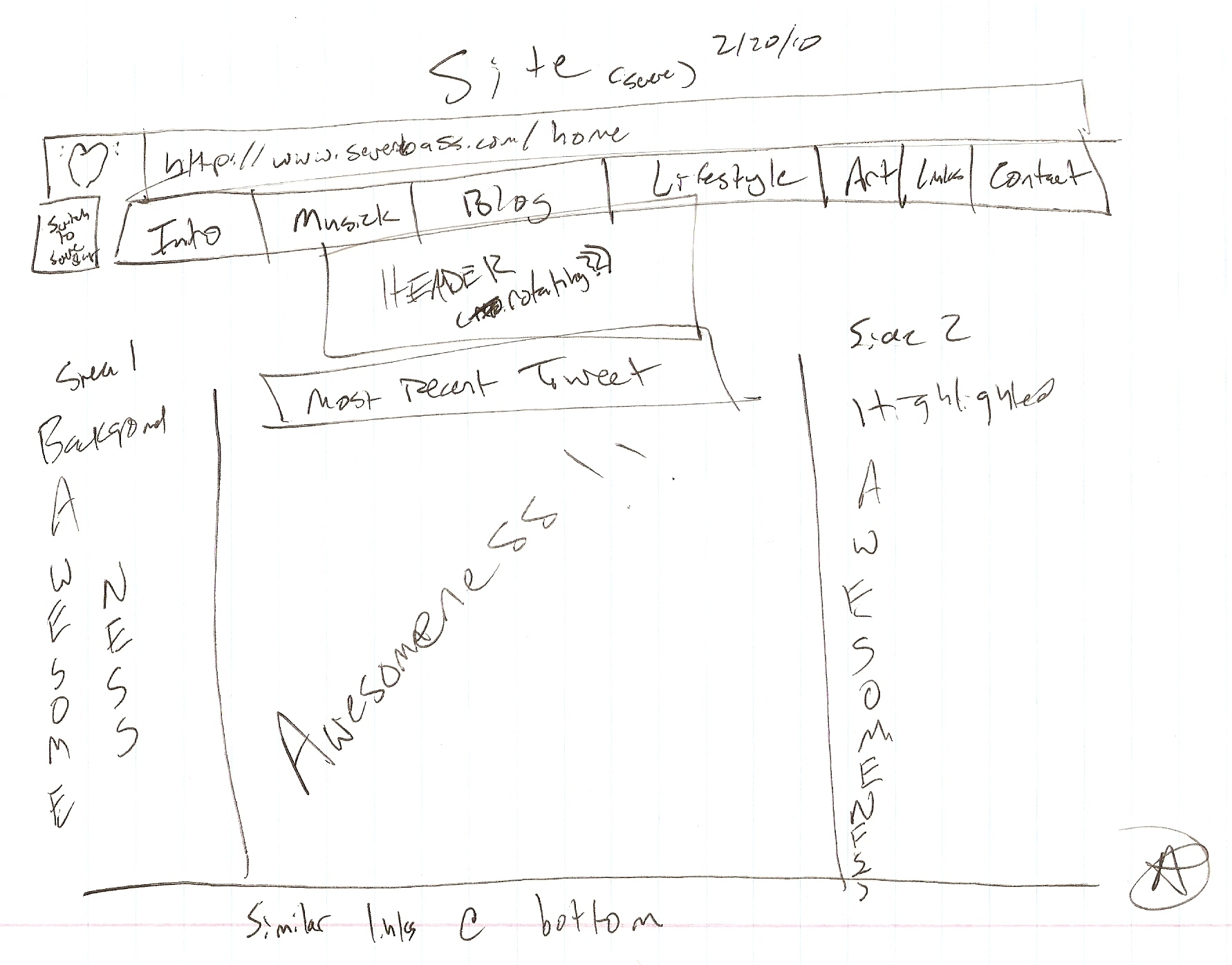awesome drawing of my site #1