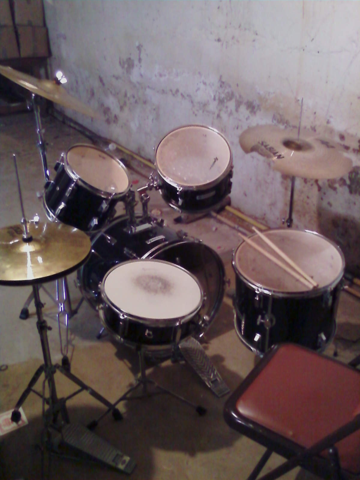 Kids drumset from my practice space/torture chamber down the street