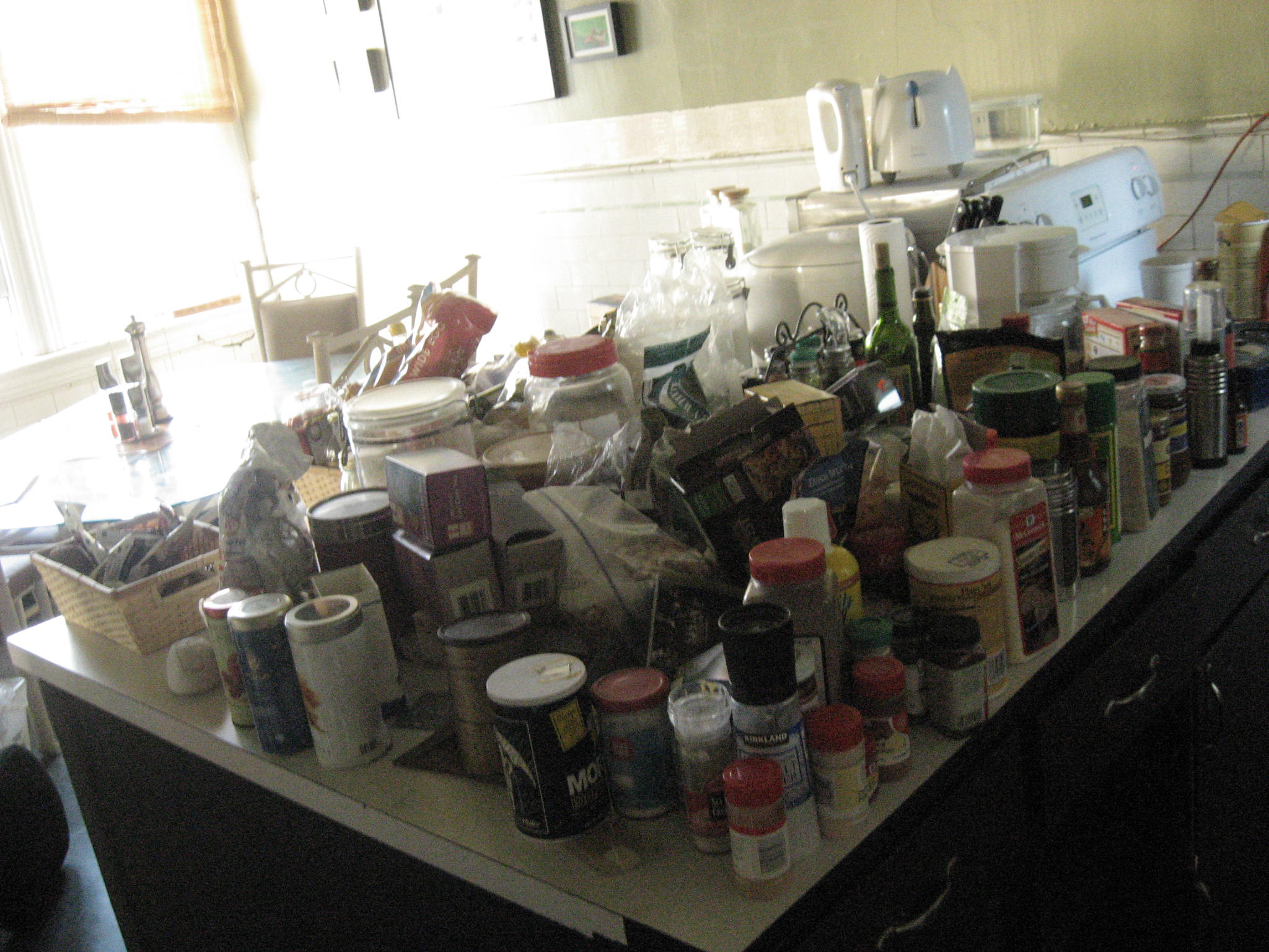 All the crap in our cabinets!